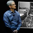 Apple CEO Tim Cook. Inset: Apple's open letter featured a picture of Steve Jobs visiting, what was then, Apple's new facility in Cork in 1980