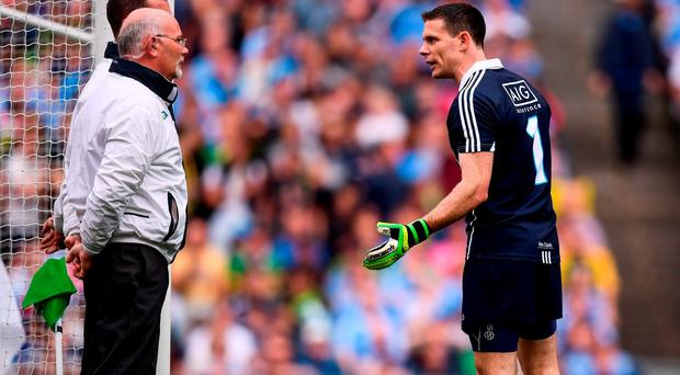 Stephen Cluxton endured a tough afternoon on Sunday. Photo by Stephen McCarthy/Sportsfile