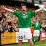 Keane has set an Irish goalscoring record which won't be threatened, let alone broken. Photo By Jamie McDonald/Getty Images