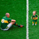 Kieran Donaghy of Kerry playing with his daughter Lola Rose at Croke Park. Photo by Daire Brennan/Sportsfile
