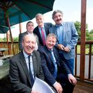 Independent Alliance TDs Shane Ross, Kevin Boxer Moran, Finnian McGrath, Sean Canning and John Halligan relax after a conference in the Coosan Cottage Hotel, Athlone. Photo: Tony Gavin