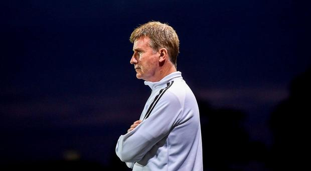 ; Dundalk manager Stephen Kenny watches on during the FAI Cup Third Round match between Crumlin United and Dundalk at Oriel Park in Dundalk, Co Louth. Photo by David Maher/Sportsfile
