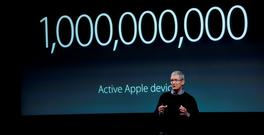 Tim Cook, chief executive officer of Apple, speaks during an event in Cupertino, California, in March 2016. Photo: David Paul Morris/Bloomberg.