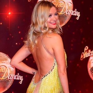 Laura Whitmore arrives for the launch of 'Strictly Come Dancing 2016' at Elstree Studios on August 30, 2016 in Borehamwood, England. (Photo by Chris Jackson/Getty Images)