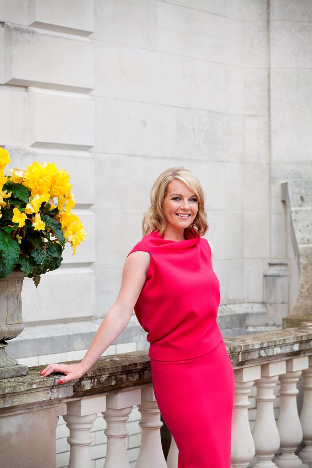 Claire Byrne wears: top €450, skirt €550, both Roland Mouret at Costume. Photo Naomi Gaffey