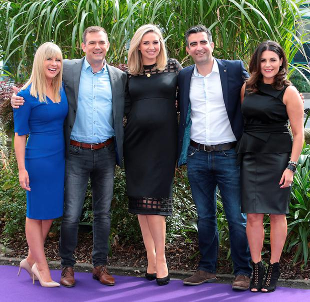 Weekend AM presenters Laura Woods, Ian Noctor, Anna Daly, Tommy Martin and Lisa Cannon at Tv3's Autumn launch at The National Concert Hall, Dublin. Picture:Brian McEvoy