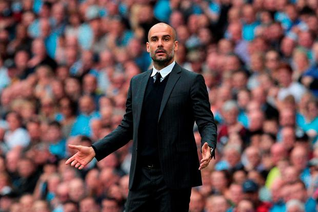 Manchester City manager Pep Guardiola. Photo: Peter Byrne/PA Wire.