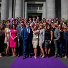 Members of TV3's autumn schedule during the its launch at the National Concert Hall, Dublin. Photo: Gareth Chaney Collins