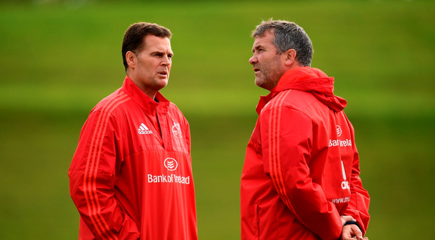 Rassie Erasmus and Anthony Foley