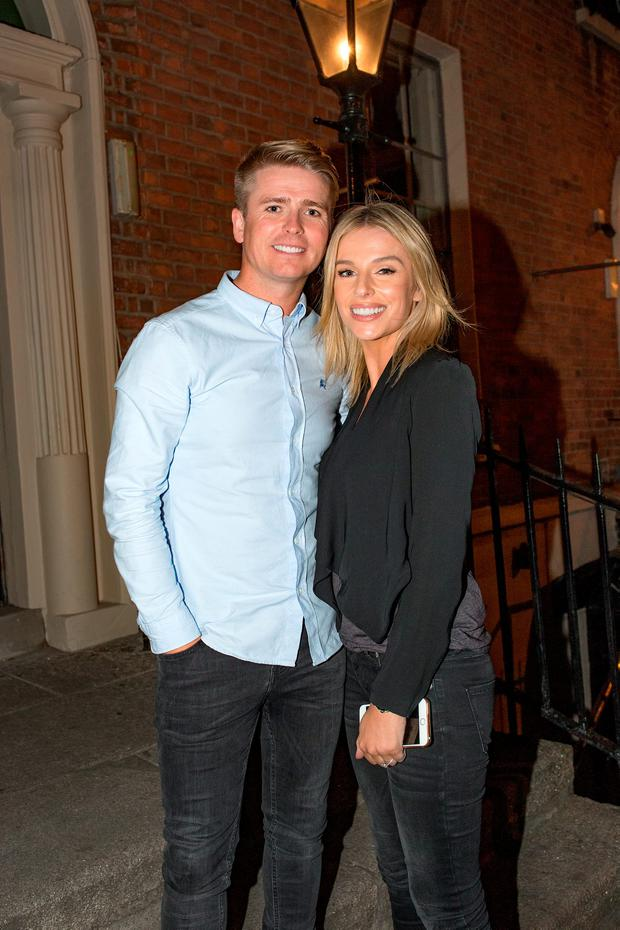 Brian Ormond and wife Pippa O'Connor Ormond arriving at House for a private party for Robbie Keane's retirement from international football. Picture: Arthur Carron