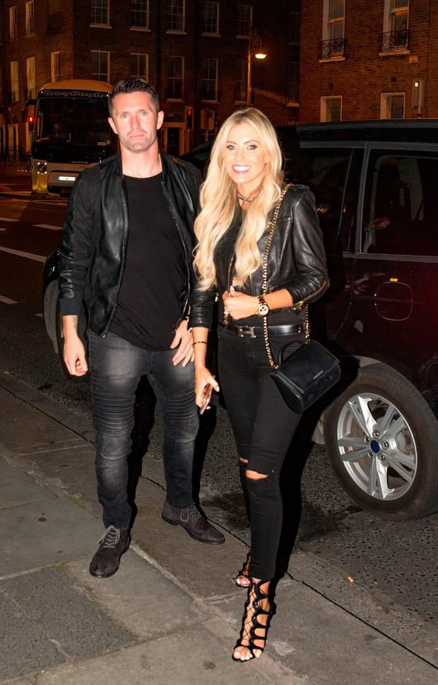 Robbie and Claudine Keane arriving at House for a private party for Robbie Keane's retirement from international football. Picture: Arthur Carron