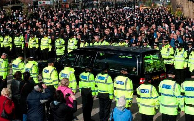 The funeral of PC Nicola Hughes