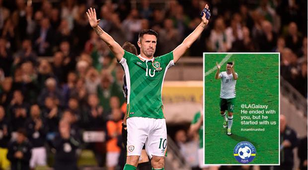Crumlin United took out a brilliant ad in the Irish Independent thanking Robbie Keane
