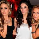 Nadia Forde, Georgia Salpa and Sara Kavanagh at the Assets Model Agency Christmas Party 2009 at Krystle