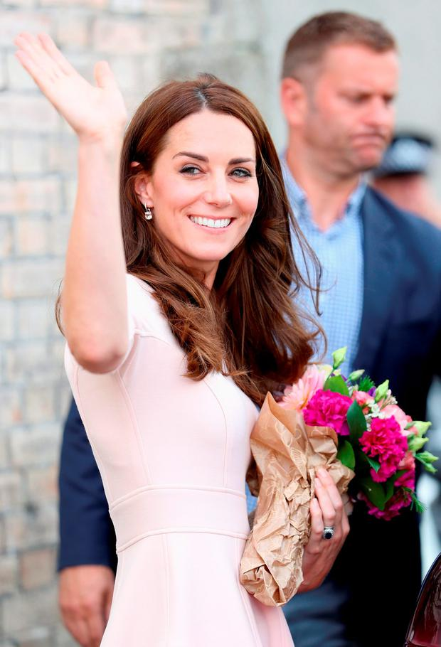 Kate Middleton on a day-long tour of Cornwall. Picture: Chris Jackson/PA Wire