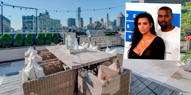 Kim and Kanye West's Airbnb rental in New York City
