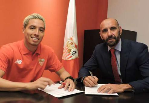 Samir Nasri has gone out on loan to Valencia
