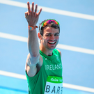 Thomas Barr after the Men's 400m hurdles final at Rio Photo by Ramsey Cardy/Sportsfile