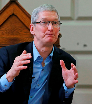 Apple chief executive Tim Cook Photo: Niall Carson/PA Wire