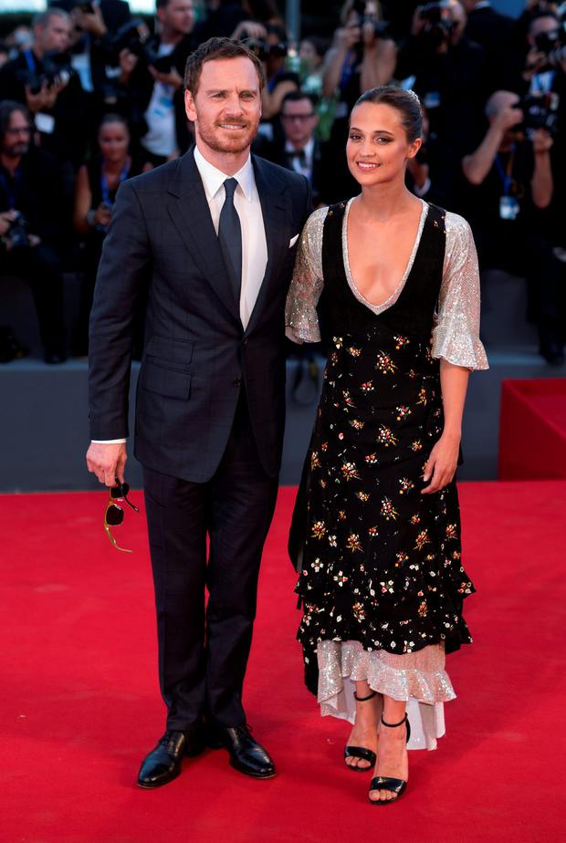 Actors Michael Fassbender and Alicia Vikander attend the premiere of 'The Light Between Oceans' during the 73rd Venice Film Festival at Sala Grande on September 2, 2016 in Venice, Italy. (Photo by Andreas Rentz/Getty Images)
