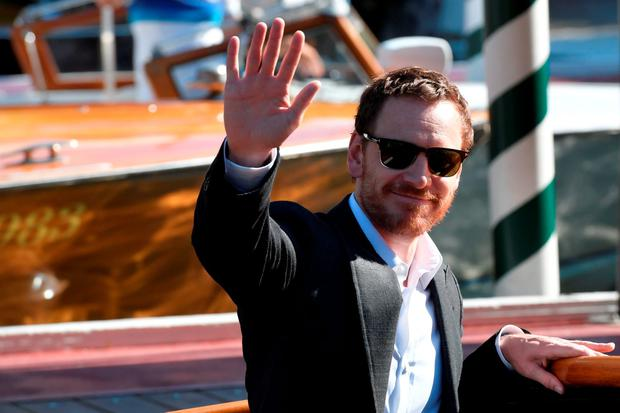 Michael Fassbender arrives at the Excelsior Hotel to promote the movie