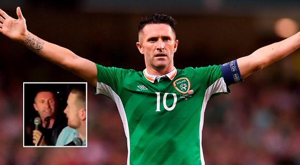Robbie Keane enjoyed a sing-song on Wednesday night