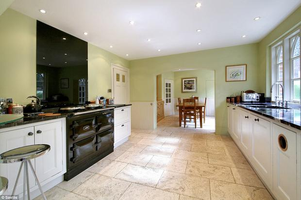The charming family kitchen