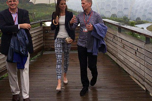 Kate Middleton visits the Eden Project as part of the Cornwall tour. Photo: Kensington Palace / Twitter
