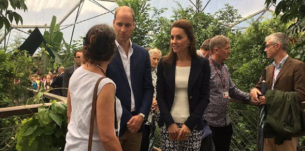 Kate Middleton and William visit the Rainforest Biome - the world's biggest undercover rainforest. Photo: Kensington Palace / Twitter