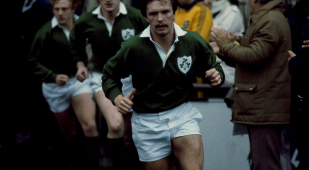 Paul Dean leads Ireland out in 1984