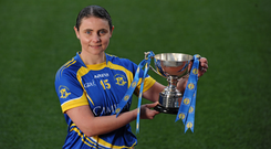 26 April 2016; Edel Hanley, Tipperary, at the Lidl Ladies Football National League Division 3 & 4 Media Day. Croke Park, Dublin. Picture credit: Sam Barnes / SPORTSFILE