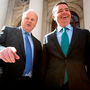 Finance Minister Michael Noonan and Paschal Donohoe, the Minister for Public Expenditure Photo: Tom Burke