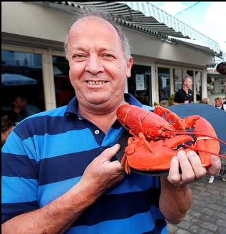 David Coulson of the Tramyard, founder of the Dalkey Lobster Festival Photo: Steve Humphreys