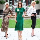 Impeccable posture from former Irish supermodels (L-R) Vivienne Connolly, Olivia Tracey, Amanda Byram, Marie Staunton and Sheila Eustace at the ISPCC lunch at which Brown Thomas showcased their new AW16 designer collections Photo: Cian O'Sullivan/Photocall