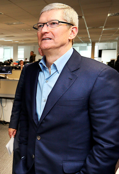 Apple chief Tim Cook Photo: Steve Humphreys