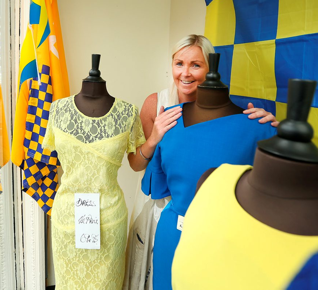 Bernie Donnelly in her shop window in Thurles Photo: Gerry Mooney