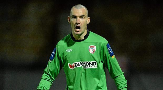 Derry City's goalkeeper Gerard Doherty. Photo: Sportsfile