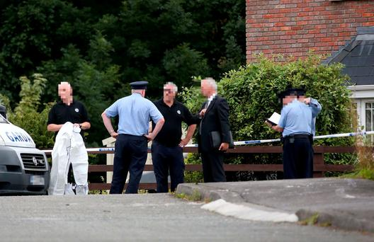 Gardaí at the scene of the Hawe family tragedy in Cavan Photo: Colin Keegan, Collins Dublin