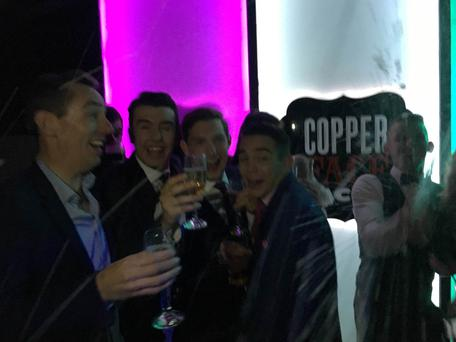 Ryan Tubridy, the O'Donovan brothers and Michael Conlon in Coppers