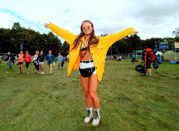 Ciara Kennedy, 18, from Laois, arrives at festival. Electric Picnic Festival - Friday. Stradbally, Co. Laois. Picture: Caroline Quinn
