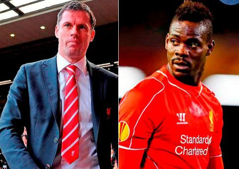 Jamie Carragher and Mario Balotelli