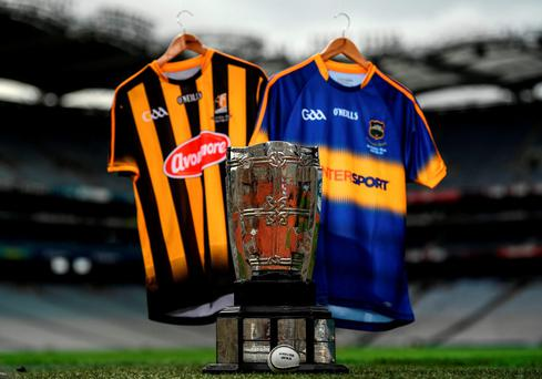 The Liam MacCarthy Cup ahead of the GAA Hurling All-Ireland Senior Championship Final between Kilkenny and Tipperary at Croke Park