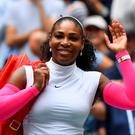 Serena Williams of the USA after beating Johanna Larsson of Sweden