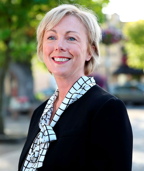 Impatient: Regina Doherty, Government Chief Whip, pictured in Dunboyne, says she doesn't have a lot of patience when it comes to politics Photo: Gerry Mooney