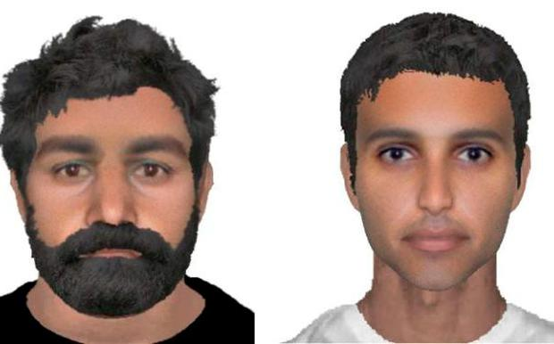 E-fit images of the two suspects wanted in connection with the attempted abduction Credit: Norfolk Police