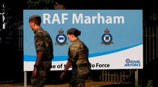 The ambush happened close to RAF Marham in Norfolk last July Credit: LINDSEY PARNABY/AFP