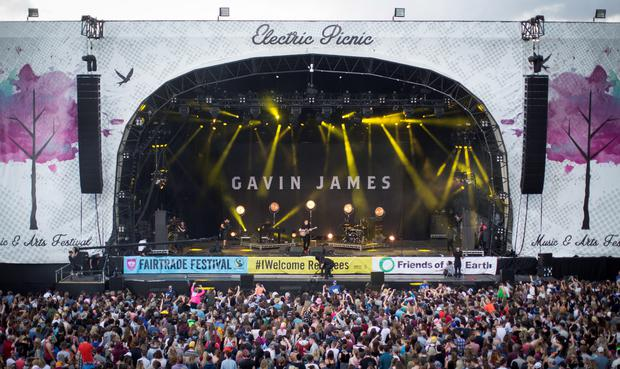 Gavin James on stage, at day two of Electric Picnic. Photo: Fergal Phillips