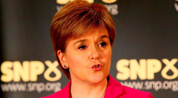 First Minister Nicola Sturgeon speaks at an event in Stirling