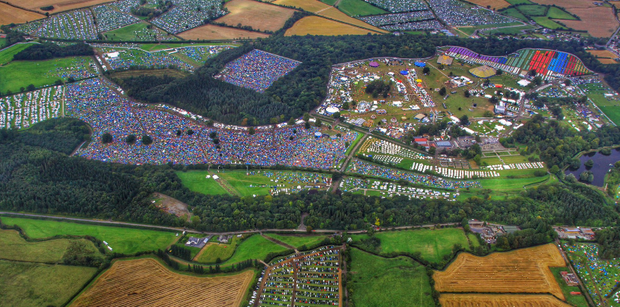 An aerial photo of Electric Picnic. Pic: An Garda Siochana