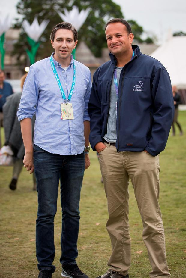 Simon Harris Minister for Health & Leo Varadkar Minster for Social Protection, at day 3 of Electric Picnic. Picture by Fergal Phillips